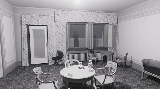Záběr z počítačové hry založené na zápiscích snů dcery prvních majitelů brněnské vily Stiassni Susi. Hra vznikla na popud ženiny vnučky. Aktuálně ji vytváří vývojáři z Fakulty informatiky brněnské Masarykovy univerzity.