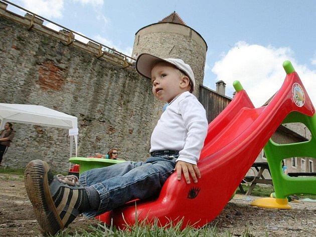 Pohádkové atrakce pro děti na hradě Veveří.