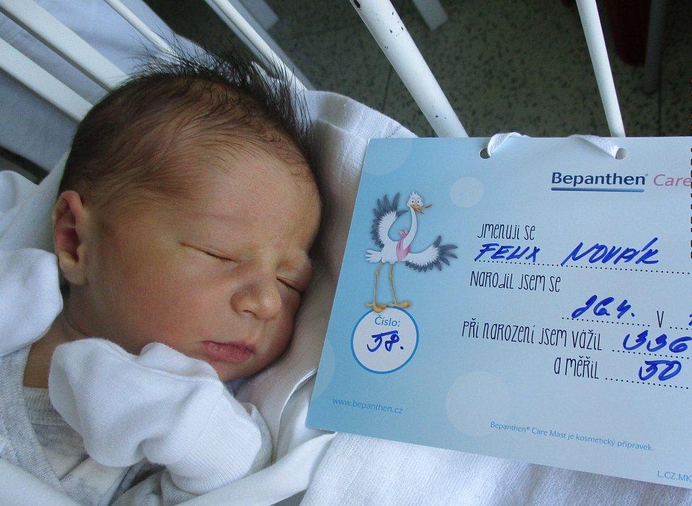 Felix Novák, 26. 4. 2021, Břeclav, Nemocnice Břeclav, 3360 g, 50 cm