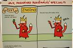 Dějiny lucemburského rodu trochu jinak – pohledem zábavného komiksu s názvem Opráski sčeskí historje, představuje nová výstava na hradě Špilberk.