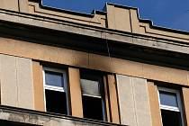Požár kanceláře na Žerotínově náměstí.