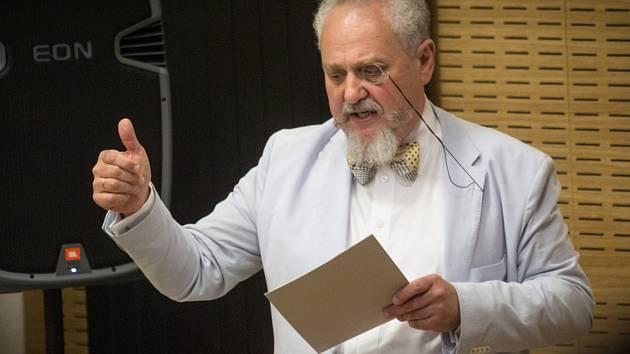 Přednáška ruského historika, religionisty a politologa Andreje Zubova v prostorách Filozofické fakulty Masarykovy univerzity v Brně.