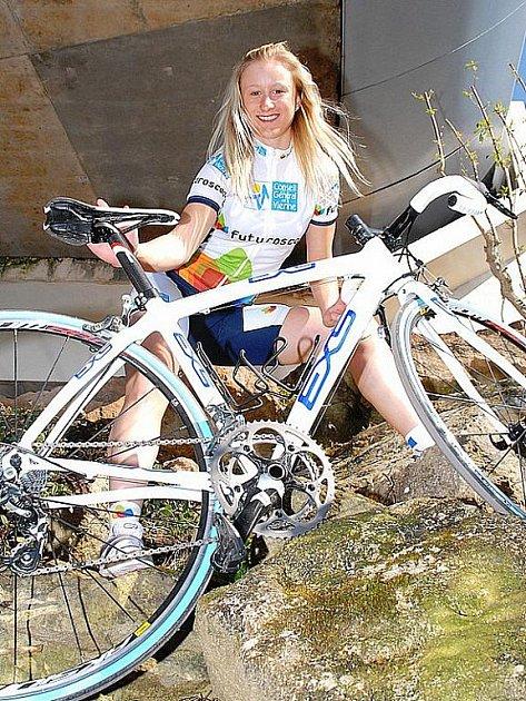 Brněnská cyklistka Gabriela Slámová dojela v časovce na třetím místě.