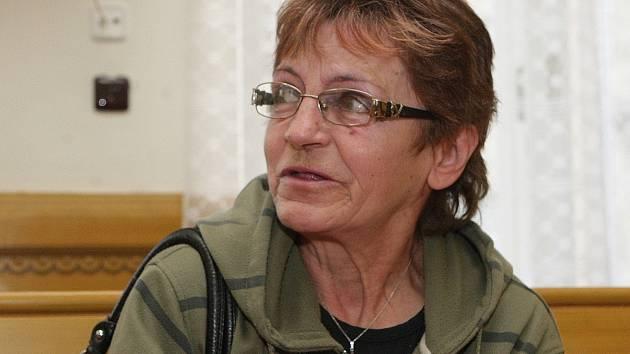 Alena Migotová u soudu.