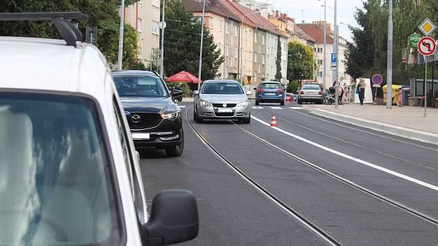 Merhautova ulice v Brně.