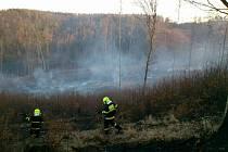 Největší požár likvidovali hasiči u Bukovinky na Blanensku