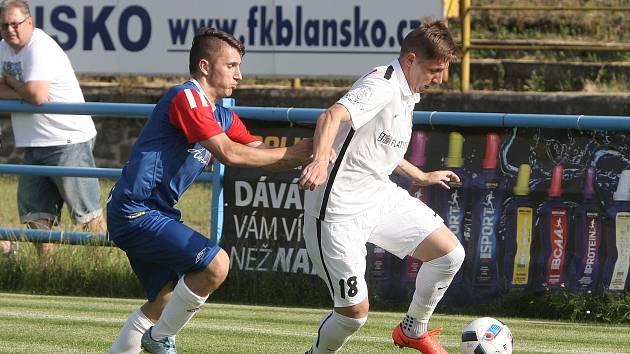 Talentovaný křídelní útočník Lukáš Stratil v prvním přípravném zápase brněnské Zbrojovky.