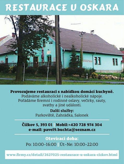 Restaurace UOskara, Čížkov