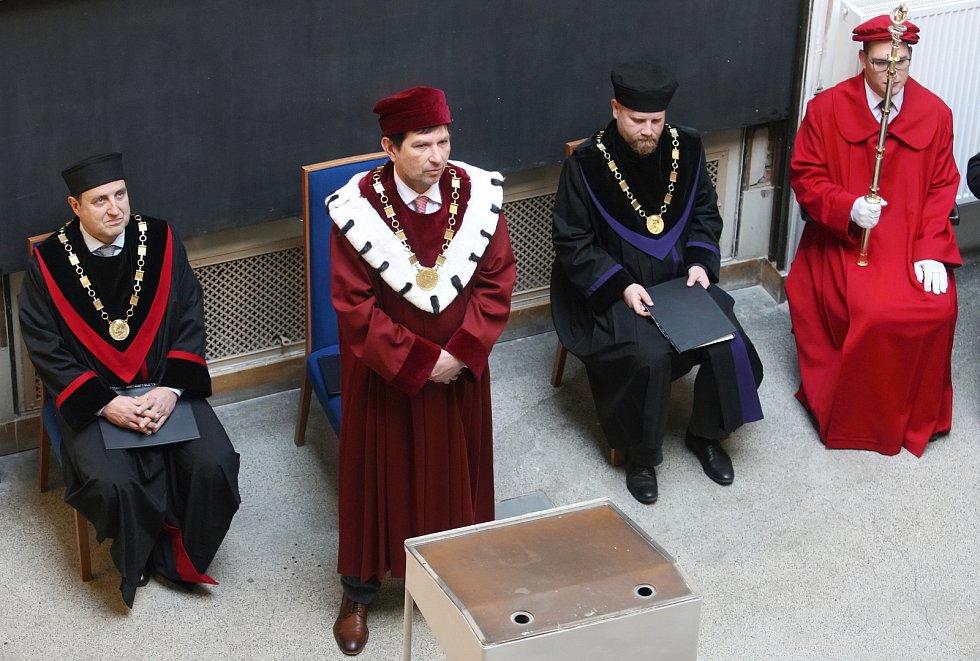 Slavnostní imatrikulace vybraných studentů Právnické a Lékařské fakulty Masarykovy univerzity v Brně.