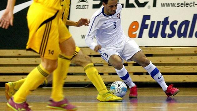 Opora futsalového Tanga Dimostenis Chadzidis.