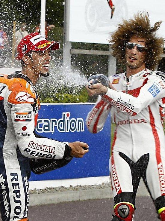 Italský motocyklista Marco Simoncelli, který zahynul při Velké ceně Malajsie.