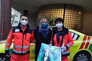 Záchranáři navštívili před Vánoci děti s Delfíkem.