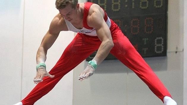Gymnasta Martin Konečný v akci