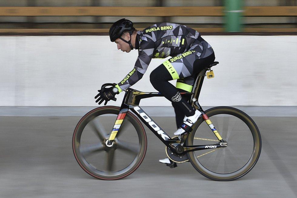 Tomáš Bábek při tréninku