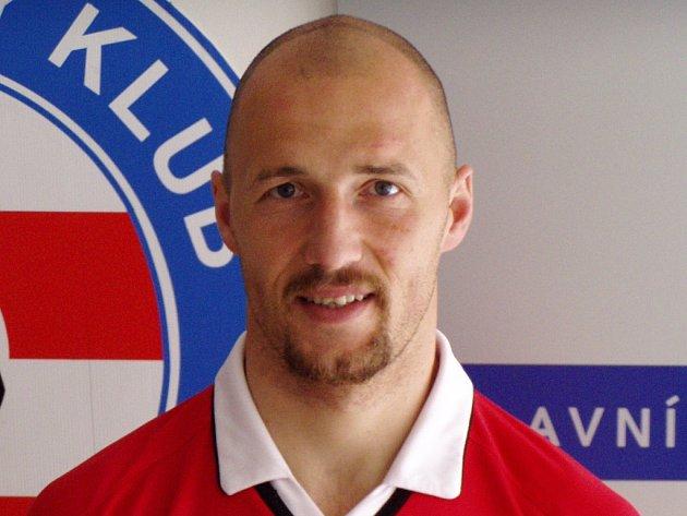 Fotbalista Luděk Zelenka ještě v dresu Zbrojovky.