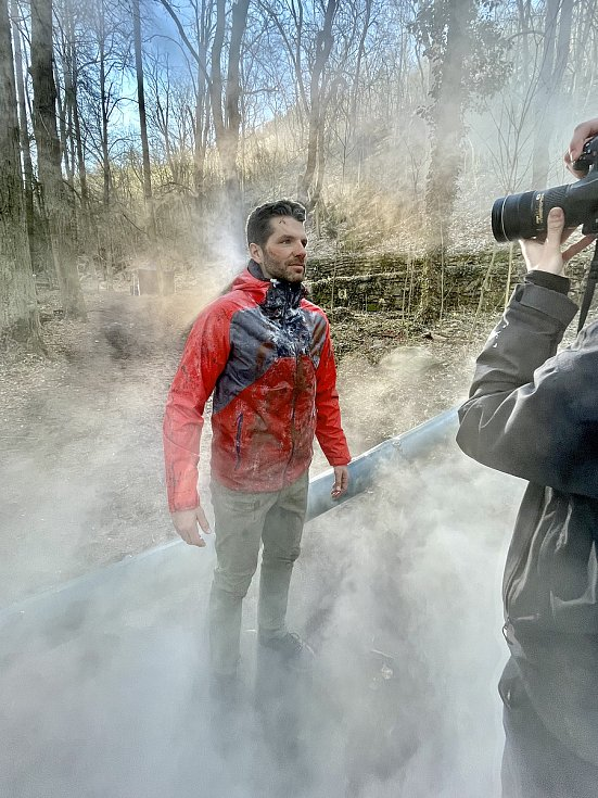Koprodukční film Oběť natáčeli slovenští filmaři ve Znojmě i na hraničním přechodu Hatě.