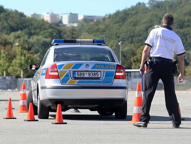Soutěž dopravních policistů v Brně.