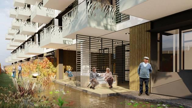 Sedmašedesát moderních bytů poskytne důchodcům výstavba domu s pečovatelskou službou v brněnské Bystrci. Lidé však proti výstavbě brojí, mají strach třeba z úbytku parkovacích míst.