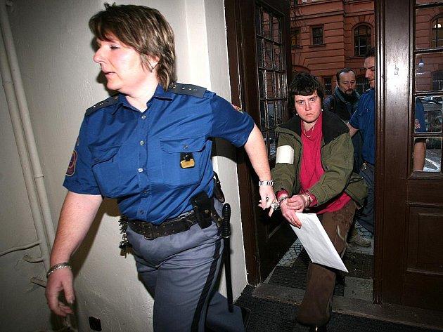 Irena Lečková u brněnského soudu.