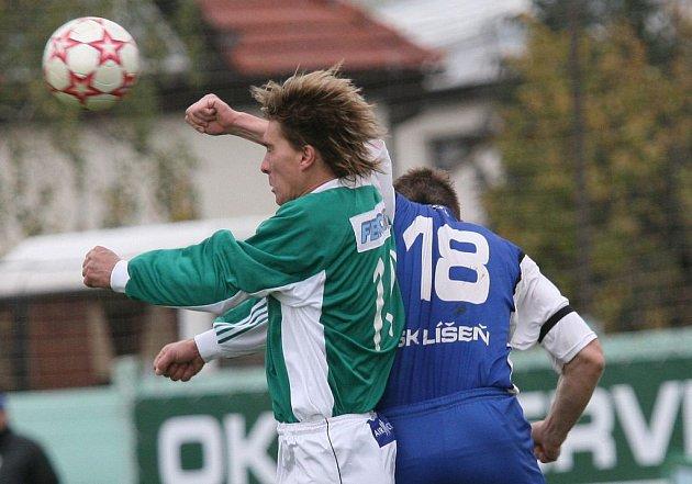 Fotbalisté Líšně podlehli Rusínovu.
