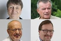 Kandidáti do senátu v Brně: Anna Šabatová, Roman Kraus(oba nahoře), Karel Rais a Tomáš Tomáš (dole).