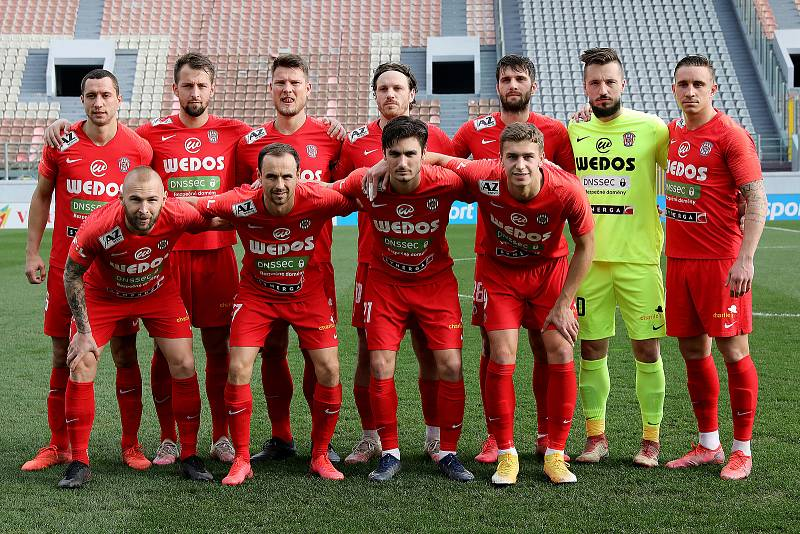 Fotbalisté Zbrojovky Brno (v červeném) na Tipsport Malta Cupu po výhře 1:0 nad Spartakem Trnava obsadili třetí místo.
