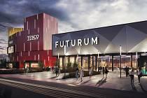Na jaře začne přestavba brněnského obchodního centra Futurum. Plocha pro obchody a služby se rozšíří o tři tisíce metrů čtverečních. Vizualizace: architektonické studio KOGAA