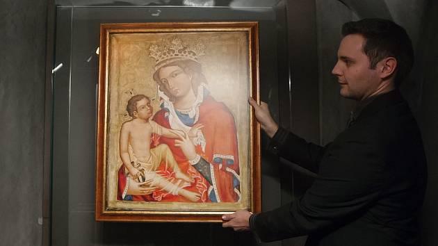 Vzácný obraz Madony z Veveří.