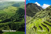 Vinice Šobes na Znojemsku a terasovitá příroda na Filipínách.