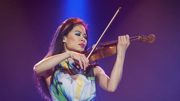 Slavná houslistka Vanessa Mae vystoupila v Brně v roce 2016.