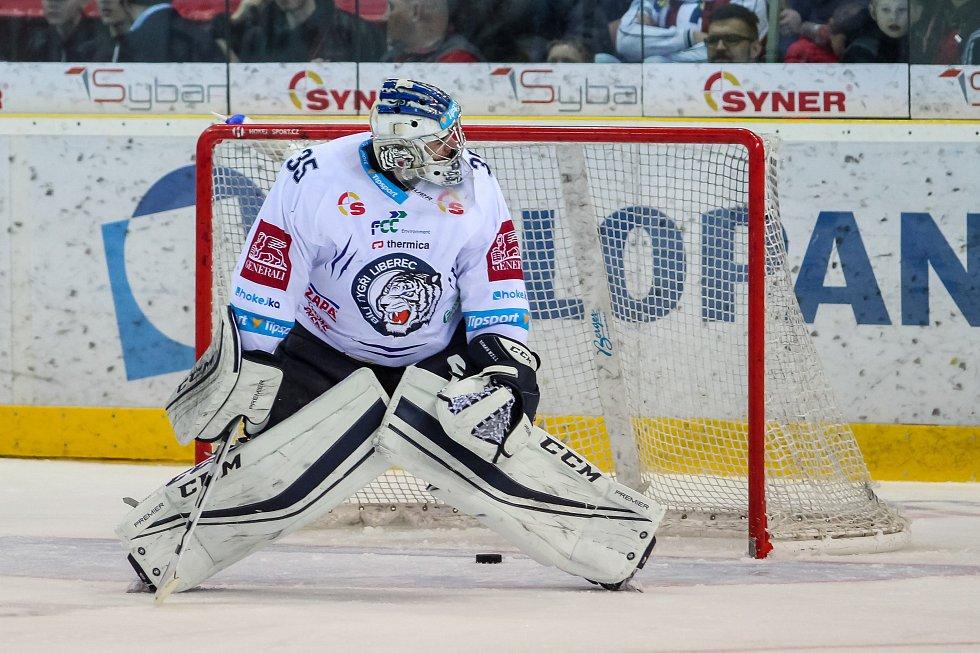 Utkání 50. kola Tipsport extraligy ledního hokeje se odehrálo 26. února 2017 v liberecké Home Credit areně. Utkaly se celky Bílí Tygři Liberec a HC Kometa Brno. Na snímku Roman Will, druhá branka Brna.