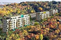 Vizualizace nového bytového domu pod Bílou horou.