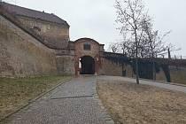 Kvůli silné ledovce uzavřeli pro návštěvníky celý areál brněnského hradu Špilberk.