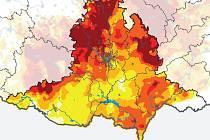 Podle monitoringu projektu Intersucho jsou pole v Jihomoravském kraji ohrožená suchem.