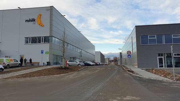 Vznikající průmyslový areál v bývalém areálu Zetoru v brněnské Líšni.