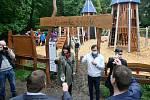 Slavnostní otevření Zámeckého hřište v Brně-Medlánkách, vítěze projektu participativního rozpočtu Dáme na vás.
