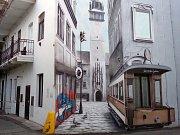 Malba ve vnitřním traktu v ulici Václavská