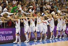 MS v basketbalu. Česko proti Brazílii.