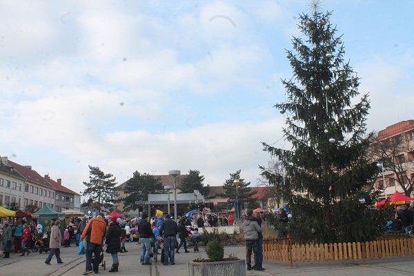 Moravský Krumlov, náměstí T. G. Masaryka.