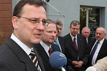 Premiér Petr Nečas navštívil Brno.