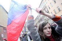 Až pět tisíc studentů dnes vyšlo v Brně do ulic. Protestují proti nové reformě školství.