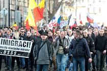 Demonstraci proti imigraci a Evropské unii svolali na sobotní odpoledne členové Dělnické strany sociální spravedlnosti. Protestního pochodu z náměstí Svobody se po třetí hodině odpoledne zúčastnila tisícovka lidí.