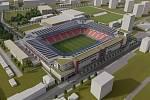 Vizualizace modernizovaného stadionu v Srbské ulici v Brně. Foto: FC Zbrojovka Brno