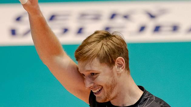 Volejbalista Brna Martin Licek.