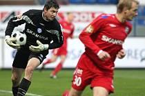 Brankář 1. FC Brno Martin Lejslal.