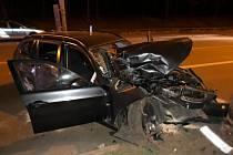 Nehoda v brněnské ulici Úvoz.