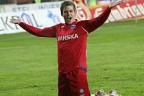 Takhle se brněnský odchovanec Luboš Kalouda radoval po gólu pražské Spartě. Teď hraje v jejím dresu.