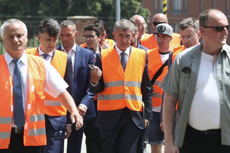 Brno 12.6.2019 - návštěva premiéra Andreje Babiše na brněnském hlavním vlakovém nádraží