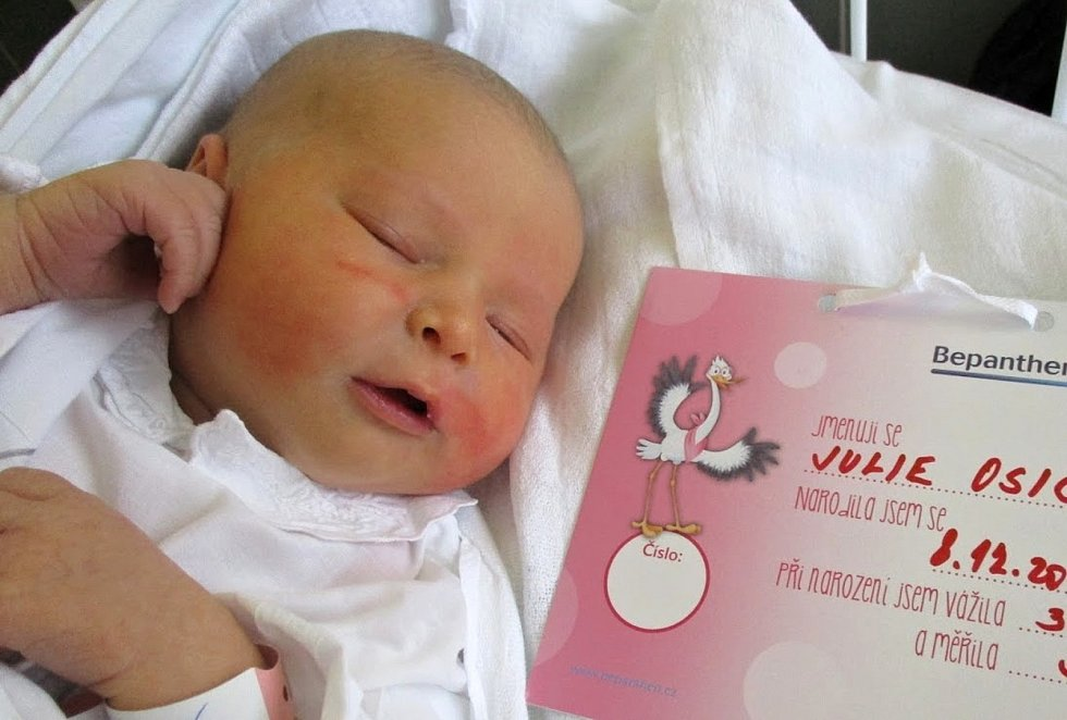 Julie Osičková, 8. 12. 2020, 3680 g, 53 cm, Přušánky, Nemocnice Břeclav