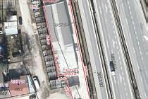 Umístění nového sběrného střediska u Chelčického ulice v brněnském Králově Poli.